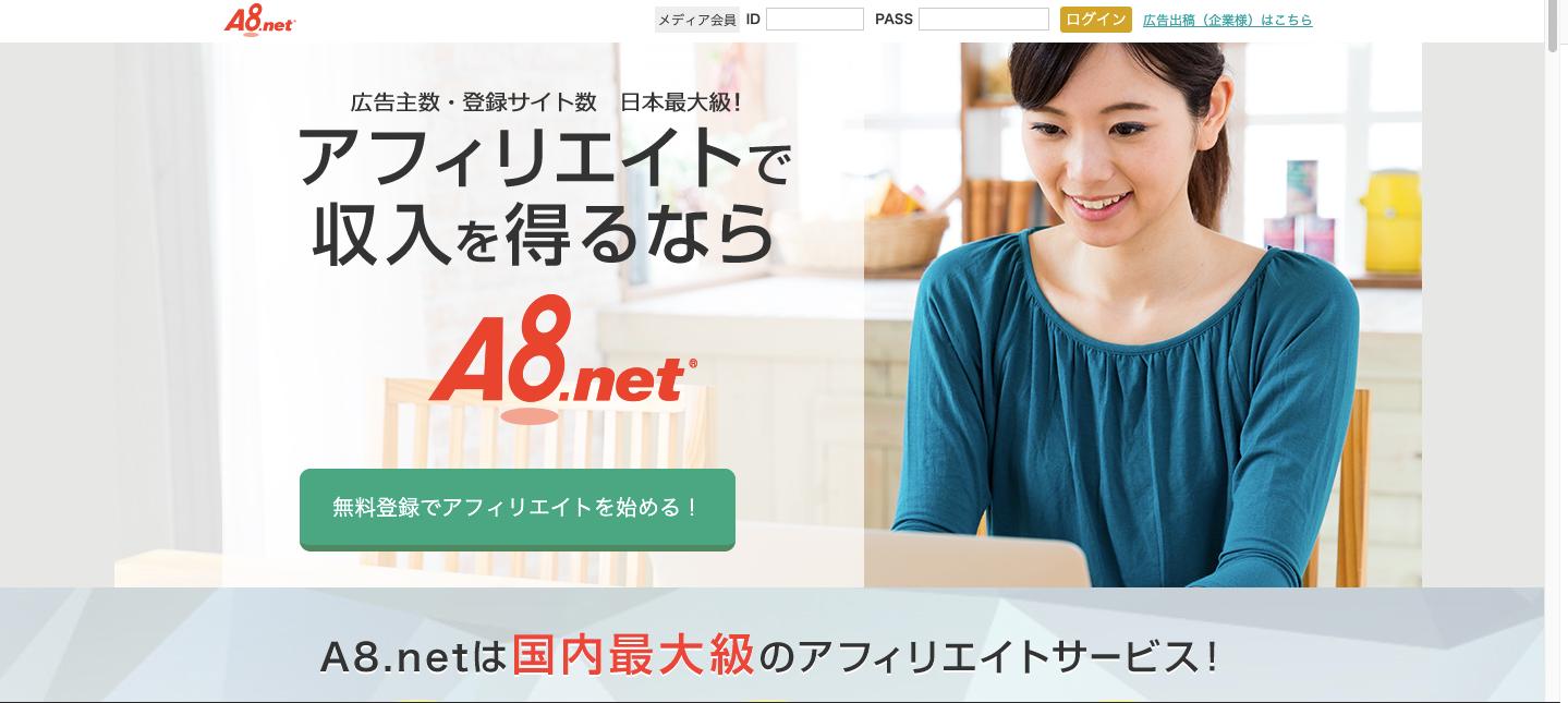 A8netにログイン