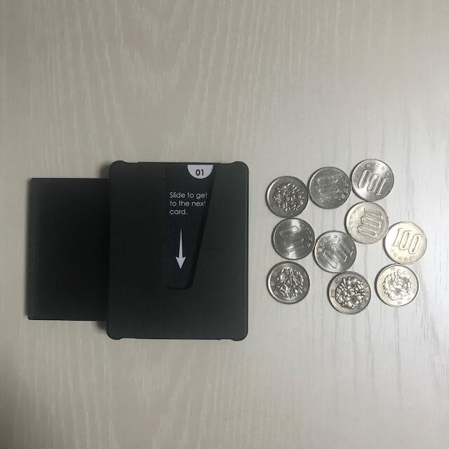 Veered Wallet カードに小銭を入れる前