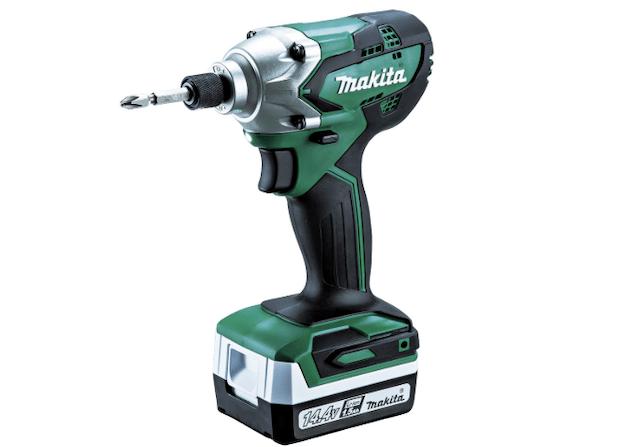 マキタ(Makita)充電式インパクトドライバ 14.4V 1.5Ah バッテリ2本・充電器・ケース付